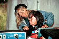 Debbie Sholer, magic massage wizard, Strawberry Music Festival, Fall, 2000