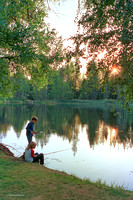 Birch Lake Fishing Derby (sparsely attended),  Strawberry Music Festival, Fall, 1986