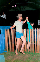 Lorraine Dechter & Greg Bushta dancing a jig to John Hartford, Strawberry Music Festival, Spring, 1988