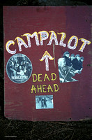 Campalot camp sign, ​Strawberry Music Festival, Fall, 2001
